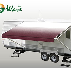 Burgandy Fade RV Patio Awning Fabric