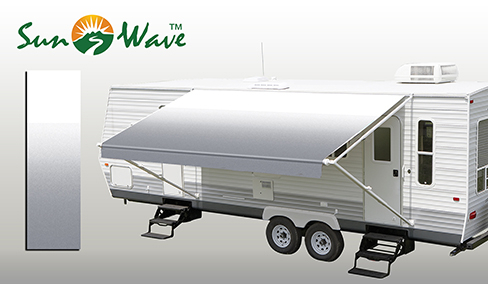 Grey Fade Rv Patio Awning Fabric Sunwave Products