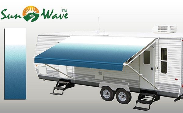 Ocean Blue Fade Rv Patio Awning Fabric Sunwave Products
